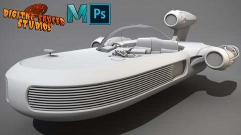 Maya 3D Masterclass – Modeling a 3D Sci-Fi Vehicle in Maya