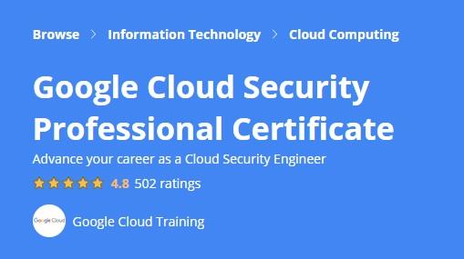 Google Cloud Security Professional Certificate