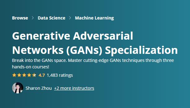 Generative Adversarial Networks Specialization