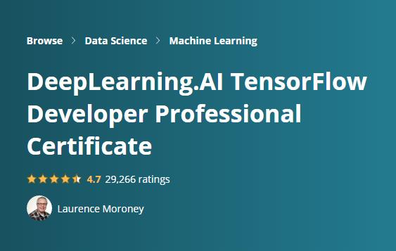 TensorFlow Developer Professional Certificate