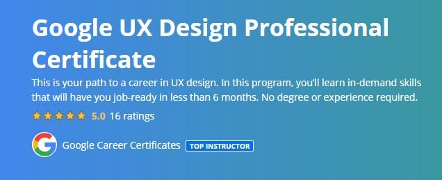 Google UX Design Professional Certificate