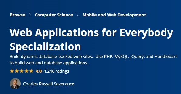 Web Applications for Everybody Specialization