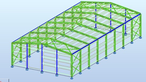Robot Structural analysis (Steel structure)