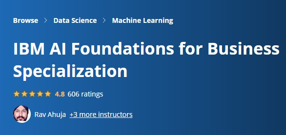 IBM AI Foundations for Business Specialization
