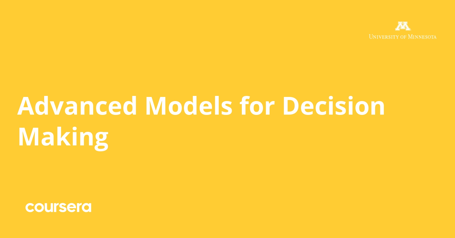 Advanced Models for Decision Making