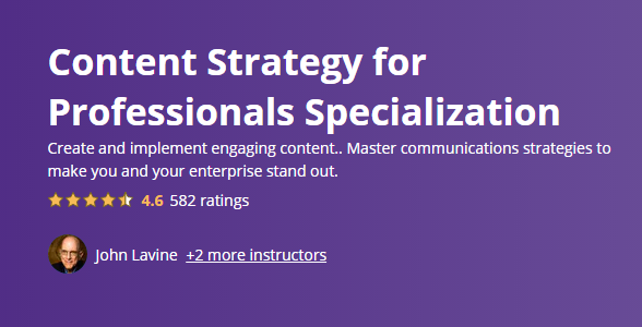 Content Strategy for Professionals Specialization