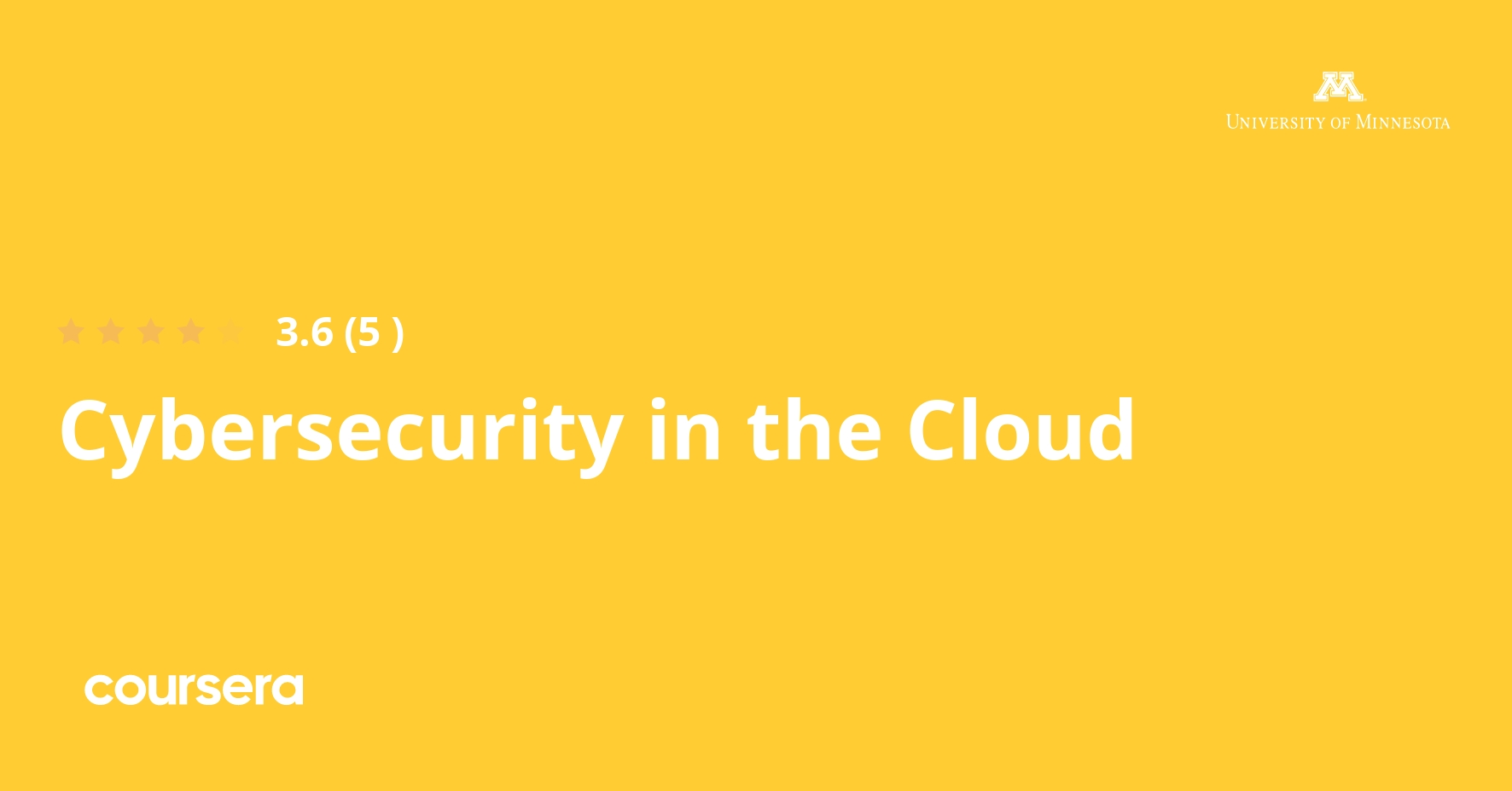 Cybersecurity in the Cloud Specialization