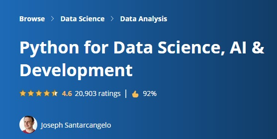 Python for Data Science, AI & Development