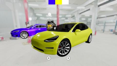 Learn Three.js using React: Build a 3D Tesla Workshop 2021