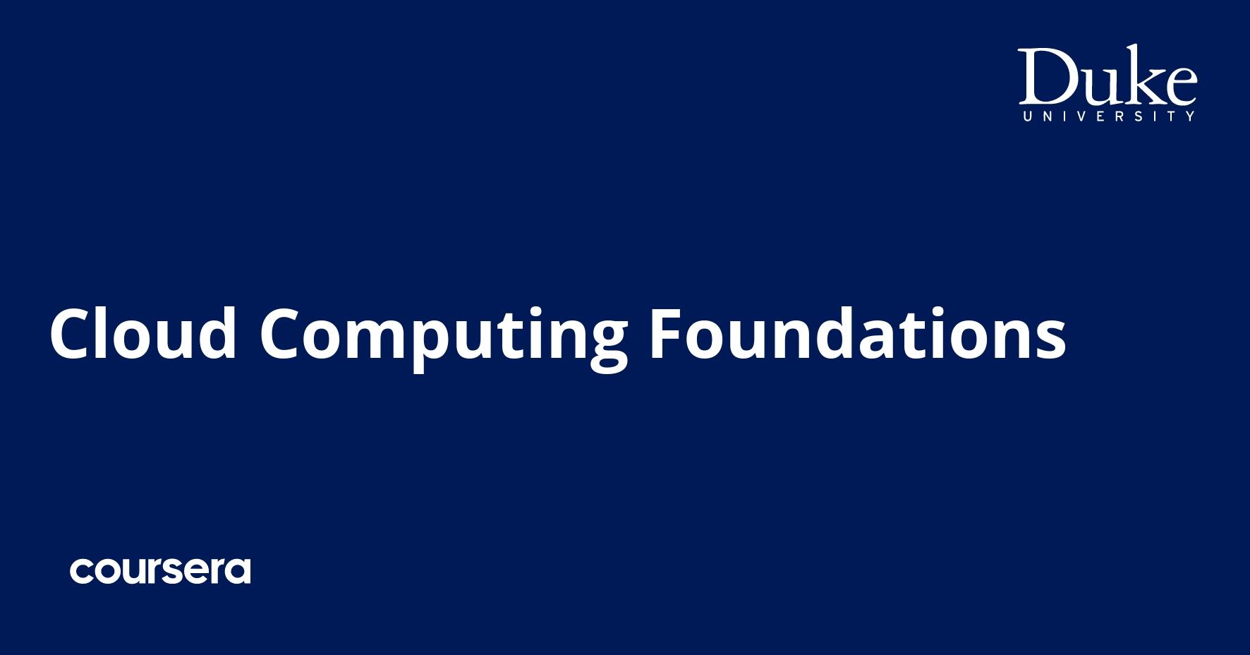 Cloud Computing Foundations