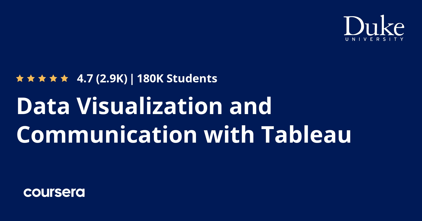 Data Visualization and Communication with Tableau