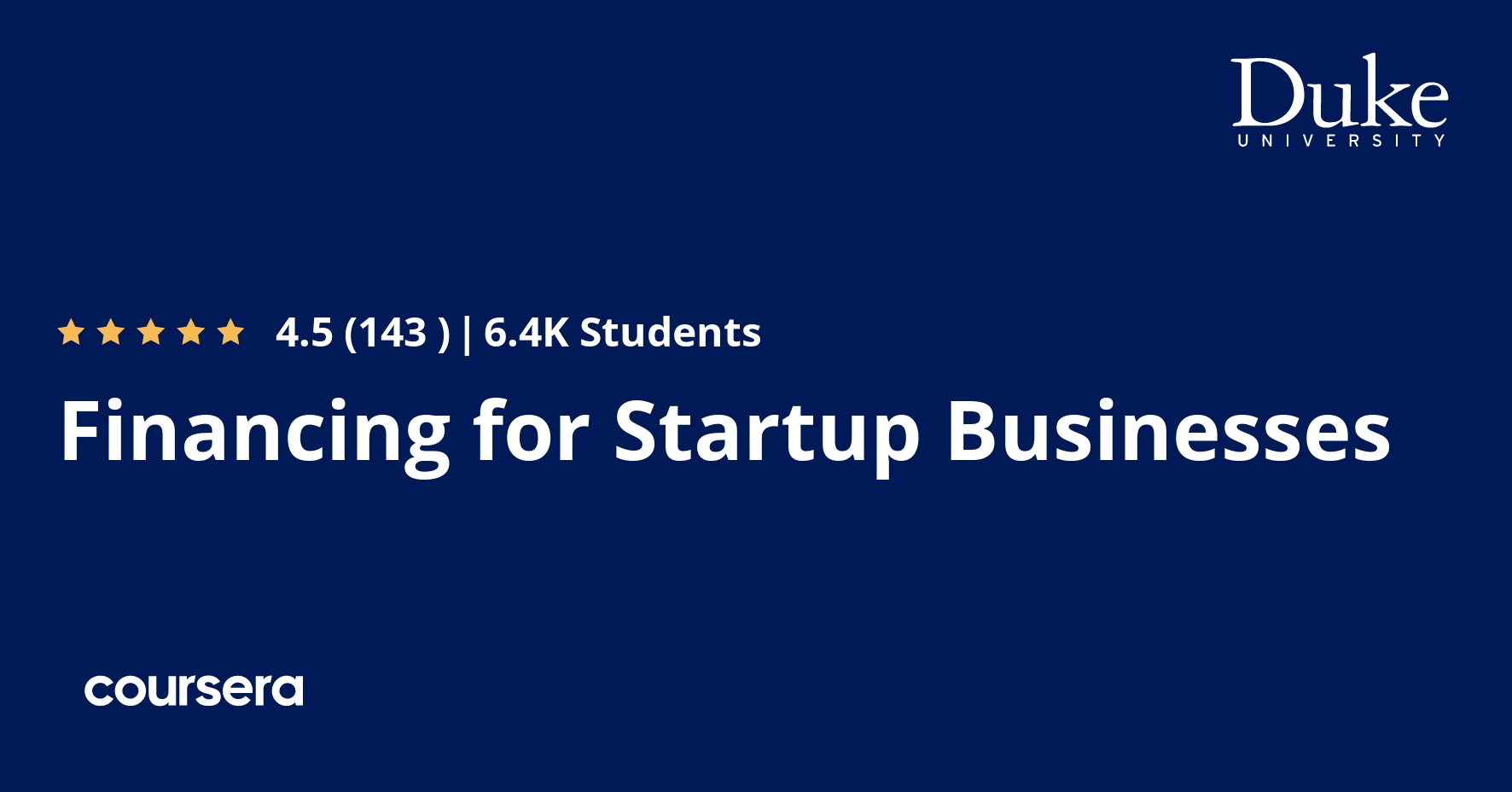 Financing for Startup Businesses