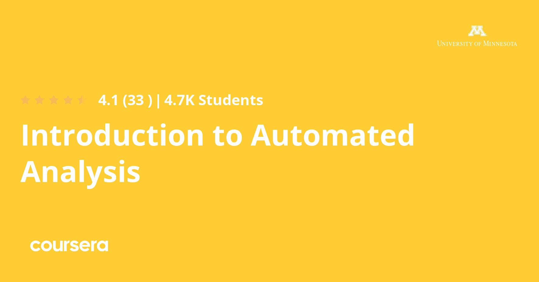 Introduction to Automated Analysis