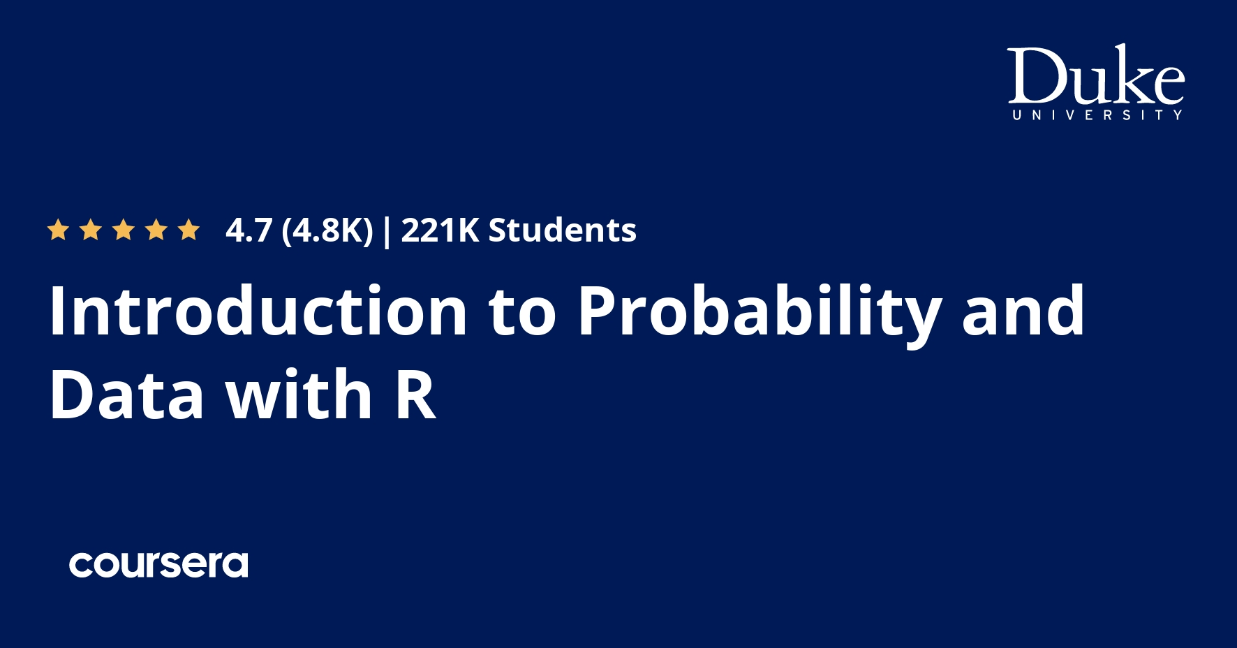 Introduction to Probability and Data with R