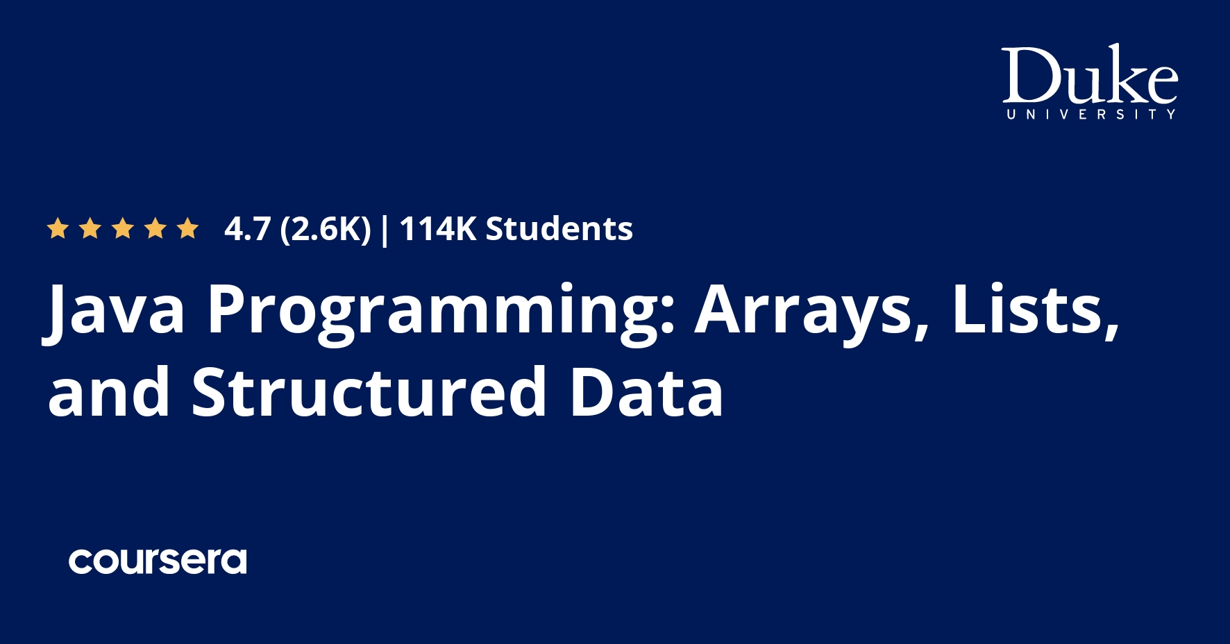 Java Programming: Arrays, Lists, and Structured Data
