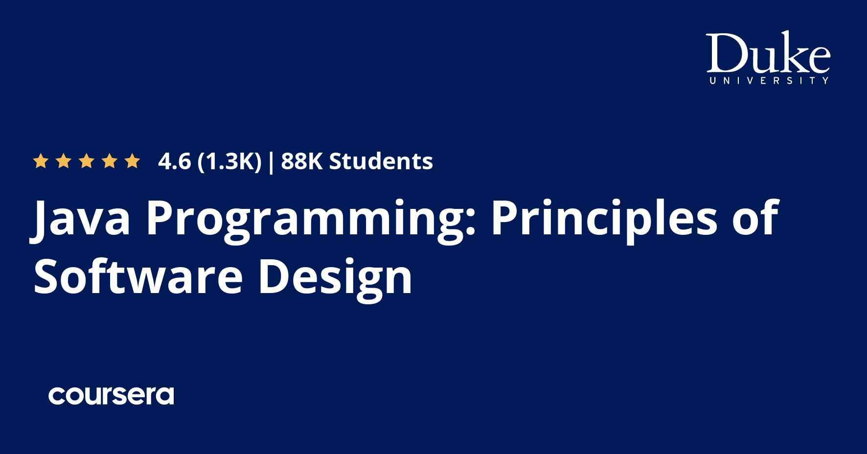 Java Programming: Principles of Software Design