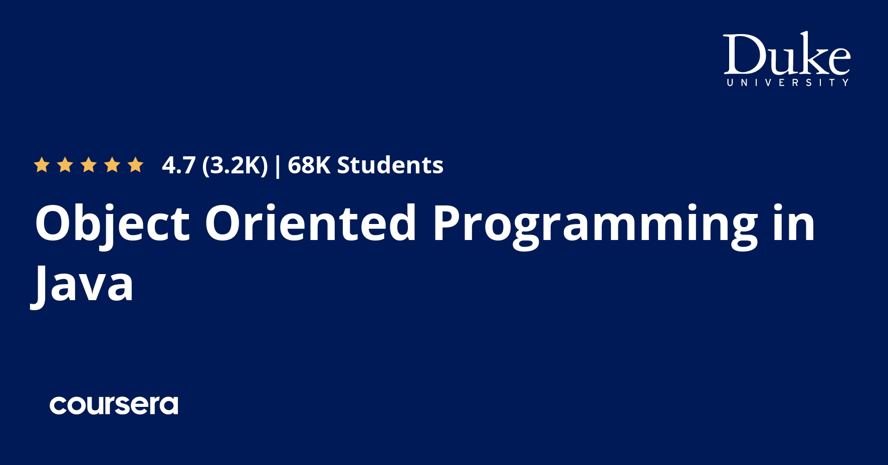 Object Oriented Programming in Java Specialization