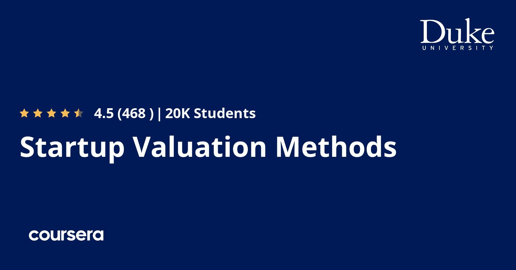 Startup Valuation Methods