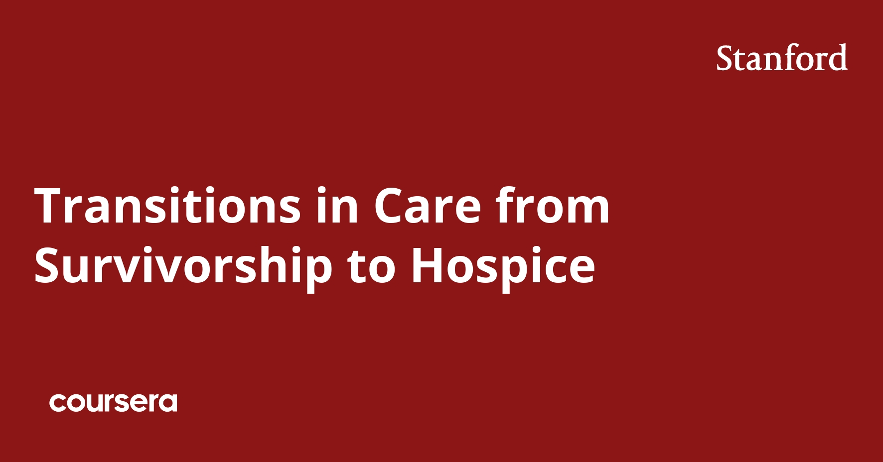 Transitions in Care from Survivorship to Hospice