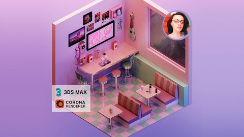 Render an Isometric Retro Diner