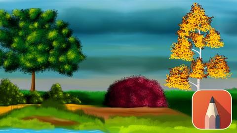 Autodesk Sketchbook Beginner Course-Foliage Digital Painting