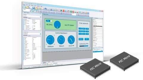 Control PIC Microcontroller using a GUI via USB or RS232