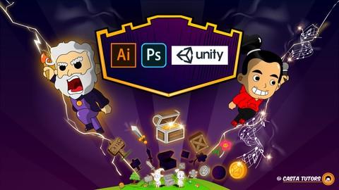 Arte para Videojuegos: Unity Photoshop AI de Cero a AVANZADO